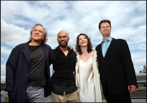 Anish Kapoor, Akram Khan, Juliette Binoche, and Philip Sheppard