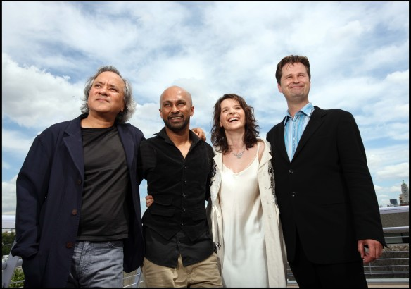 Anish Kapoor, Akram Khan, Juliette Binoche, and Philip Sheppard
