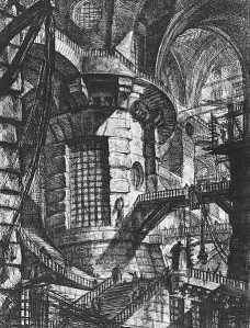 Carceri III The round tower - Piranesi