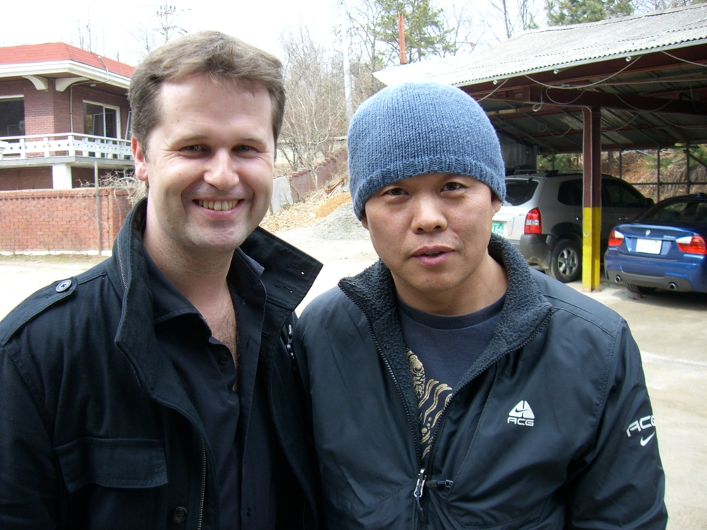 With filmmaker Kim Ki-Duk in Korea