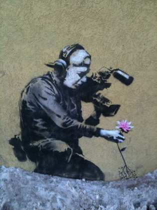 Banksy at Sundance - photo by Philip Sheppard