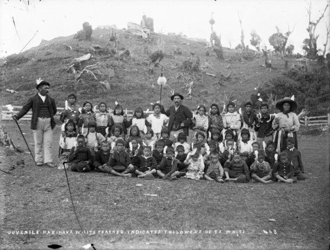 The Parihaka children's choir who resited an armed militia