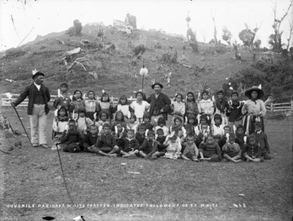 The Parihaka children's choir who resited an armed militia